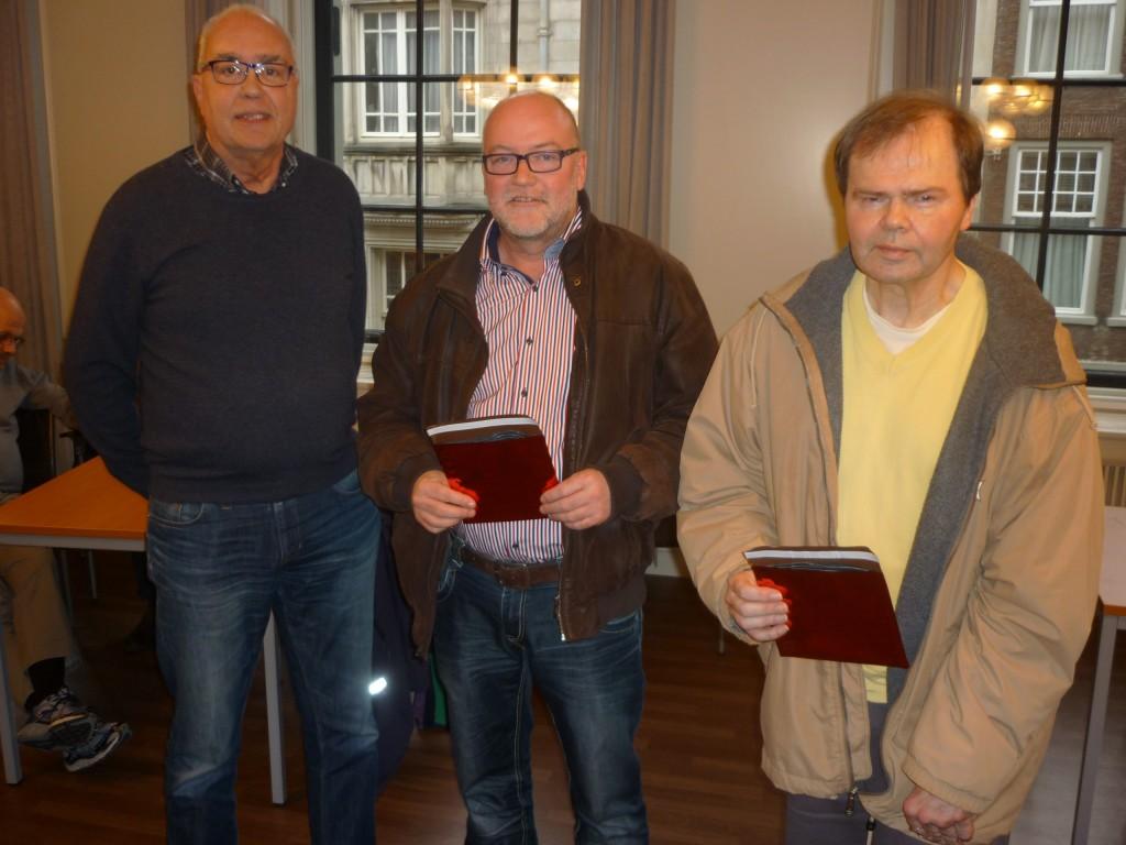 Winnaars 2e groep v.l.n.r. Theo Huijzer, Otto van Haren, Gerard Kastelein