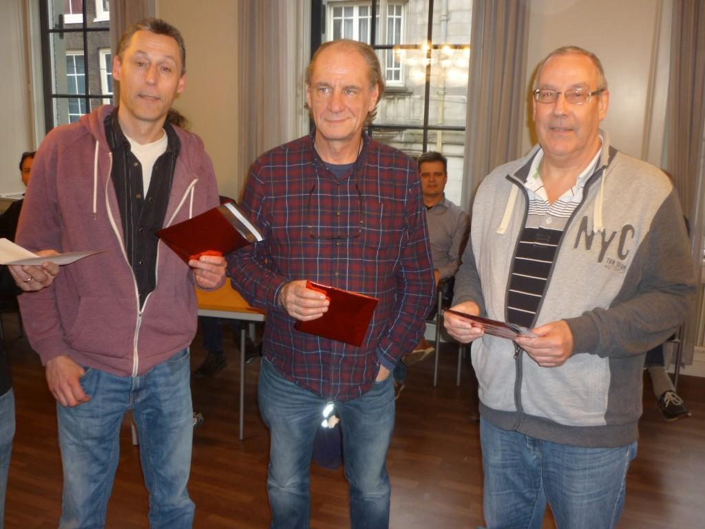 Winnaars 3e groep v.l.n.r. Mark Hopman, Cor Paans, John van Waardenberg