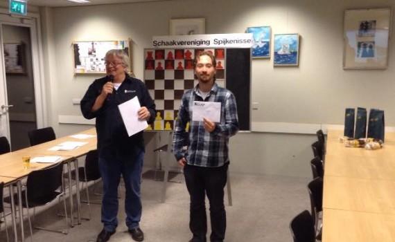 Winnaar Schaakmarathon Spijkenisse