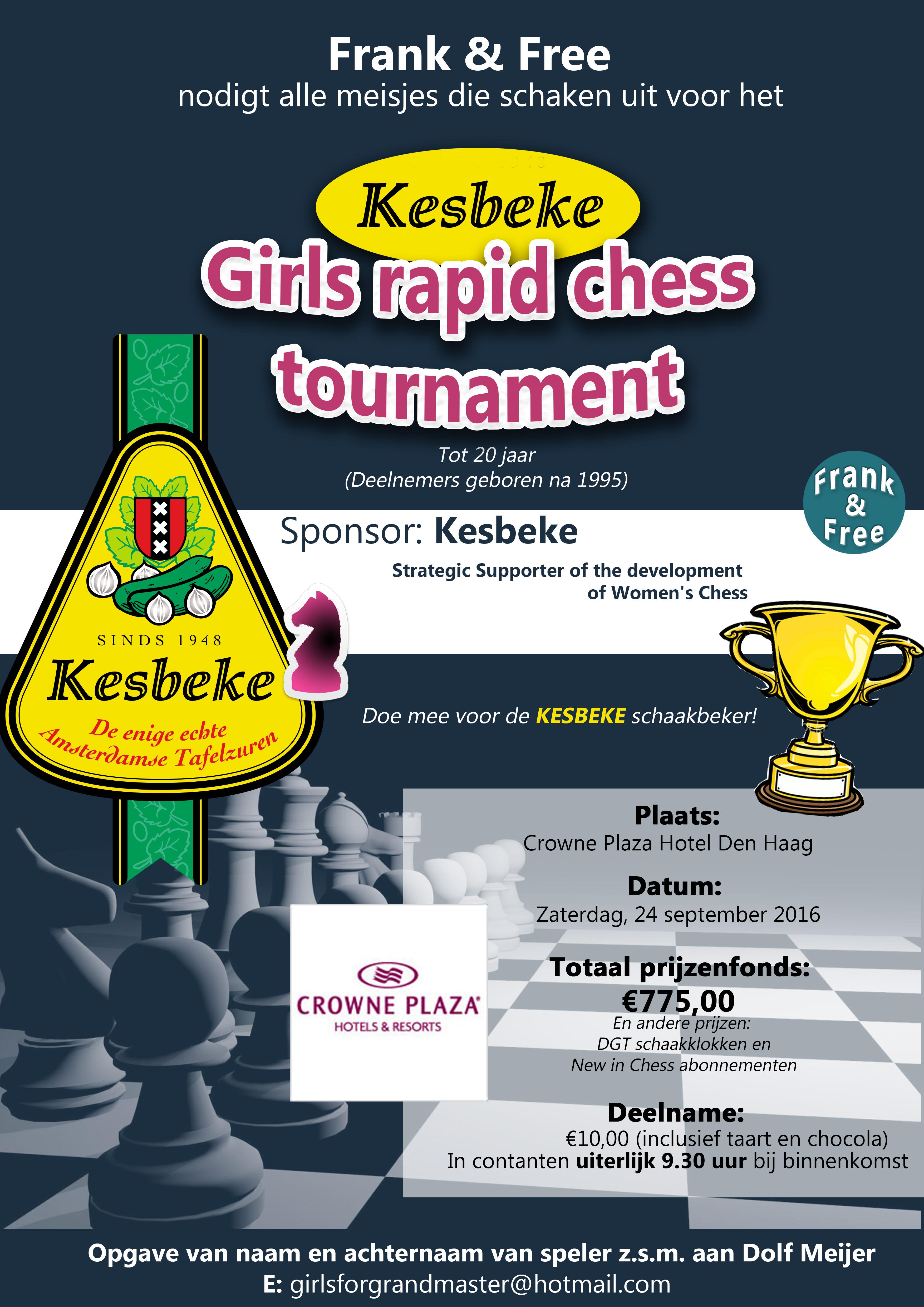 Poster Girls Rapid Chess Nl